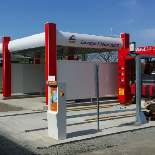 Station de lavage & carburant
